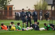 25 May 2017; Republic of Ireland assisant manager Roy Keane speaks to the players during squad training at Fota Island in Cork. Photo by Eóin Noonan/Sportsfile