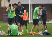 25 May 2017; Republic of Ireland players after squad training at Fota Island in Cork. Photo by Eóin Noonan/Sportsfile
