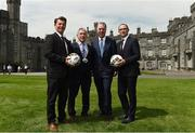 26 May 2017; Republic of Ireland manager Martin O'Neill, right, with, from left, Republic of Ireland senior women's head coach Colin Bell, Councillor Matt Doran, Cathaoirleach of Kilkenny County Council, and FAI Chief Executive John Delaney during the launch of the 2017 FAI AGM & Festival of Football at Parade Tower in Kilkenny Castle, Co Kilkenny. Photo by David Maher/Sportsfile
