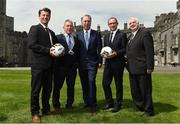 26 May 2017; Republic of Ireland manager Martin O'Neill, second from right, with, from left, Republic of Ireland senior women's head coach Colin Bell, Councillor Matt Doran, Cathaoirleach of Kilkenny County Council, FAI Chief Executive John Delaney and FAI President Tony Fitzgerald during the launch of the 2017 FAI AGM & Festival of Football at Parade Tower in Kilkenny Castle, Co Kilkenny. Photo by David Maher/Sportsfile