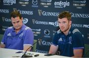 26 May 2017; Peter O'Mahony of Munster and Munster director of rugby Rassie Erasmus during the Guinness PRO12 Final Press Conference at the Aviva Stadium in Dublin. Photo by Sam Barnes/Sportsfile