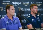 26 May 2017; Munster director of rugby Rassie Erasmus and Peter O'Mahony of Munster during the Guinness PRO12 Final Press Conference at the Aviva Stadium in Dublin. Photo by Sam Barnes/Sportsfile