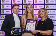 26 May 2017; The Lidl Teams of the League Awards were presented at Croke Park on Friday, May 26th. The best players from the 4 Divisions of the Lidl National Football Leagues are selected in their position on their Divisional team. Managers from opposition teams voted for the most impressive players from each match with the player receiving the most votes selected in their position on their Divisions best fifteen. Yvonne McMonagle of Donegal is pictured receiving her Team of the League award from LGFA President, Marie Hickey, right, and Lidl representative, Jay Wilson. Photo by Sam Barnes/Sportsfile