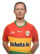 25 May 2017; Danny Moran of Carlow. Carlow Football Squad Portraits 2017 at O'Moore Park in Portlaoise, Co Laois. Photo by Eóin Noonan/Sportsfile