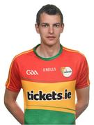 25 May 2017; Sean Gannon of Carlow. Carlow Football Squad Portraits 2017 at O'Moore Park in Portlaoise, Co Laois. Photo by Eóin Noonan/Sportsfile