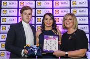 26 May 2017; The Lidl Teams of the League Awards were presented at Croke Park on Friday, May 26th. The best players from the 4 Divisions of the Lidl National Football Leagues are selected in their position on their Divisional team. Managers from opposition teams voted for the most impressive players from each match with the player receiving the most votes selected in their position on their Divisions best fifteen. Geraldine McLaughlin of Donegal is pictured receiving her Team of the League award from LGFA President, Marie Hickey, right, and Lidl representative, Jay Wilson. Photo by Sam Barnes/Sportsfile