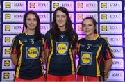 26 May 2017; The Lidl Teams of the League Awards were presented at Croke Park on Friday, May 26th. The best players from the 4 Divisions of the Lidl National Football Leagues are selected in their position on their Divisional team. Managers from opposition teams voted for the most impressive players from each match with the player receiving the most votes selected in their position on their Divisions best fifteen. Pictured are members of the Lidl Division 2 Team of the League from Co Westmeath, from left, Maud Annie Foley, Laura Brennan and Rachel Dillon. Photo by Sam Barnes/Sportsfile
