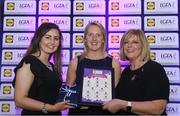 26 May 2017; The Lidl Teams of the League Awards were presented at Croke Park on Friday, May 26th. The best players from the 4 Divisions of the Lidl National Football Leagues are selected in their position on their Divisional team. Managers from opposition teams voted for the most impressive players from each match with the player receiving the most votes selected in their position on their Divisions best fifteen. Stephanie O'Reilly of Sligo is pictured receiving her Team of the League award from LGFA President, Marie Hickey,right, and Lidl representative, Laura Byrne. Photo by Sam Barnes/Sportsfile