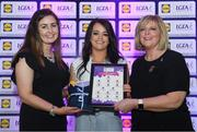 26 May 2017; The Lidl Teams of the League Awards were presented at Croke Park on Friday, May 26th. The best players from the 4 Divisions of the Lidl National Football Leagues are selected in their position on their Divisional team. Managers from opposition teams voted for the most impressive players from each match with the player receiving the most votes selected in their position on their Divisions best fifteen. Sinead Greene of Cavan is pictured receiving her Team of the League award from LGFA President, Marie Hickey,right, and Lidl representative, Laura Byrne. Photo by Sam Barnes/Sportsfile