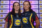 26 May 2017; The Lidl Teams of the League Awards were presented at Croke Park on Friday, May 26th. The best players from the 4 Divisions of the Lidl National Football Leagues are selected in their position on their Divisional team. Managers from opposition teams voted for the most impressive players from each match with the player receiving the most votes selected in their position on their Divisions best fifteen. Pictured are members of the Lidl Division 4 Team of the League from Co Fermanagh, Sharon Murphy, left, and Roisin Gleeson. Photo by Sam Barnes/Sportsfile