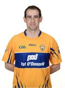 26 May 2017; Patrick Donnellan of Clare. Clare Hurling Squad Portraits 2017 at the Clare GAA centre of excellence in Caherlohan, Co. Clare. Photo by Diarmuid Greene/Sportsfile