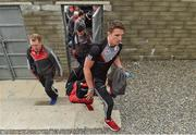 27 May 2017; Aidan Walsh of Cork arrives for his first championship football match for Cork in three years before the Munster GAA Football Senior Championship Quarter-Final match between Waterford and Cork at Fraher Field in Dungarvan, Co Waterford. Photo by Matt Browne/Sportsfile