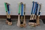 27 May 2017; A general view of Offaly hurleys before Leinster GAA Hurling Senior Championship Quarter-Final match between Westmeath and Offaly at TEG Cusack Park in Mullingar, Co Westmeath. Photo by Piaras Ó Mídheach/Sportsfile