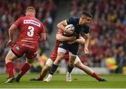 27 May 2017; Conor Murray of Munster is tackled by James Davies of Scarlets during the Guinness PRO12 Final between Munster and Scarlets at the Aviva Stadium in Dublin. Photo by Diarmuid Greene/Sportsfile