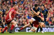 27 May 2017; Conor Murray of Munster is tackled by Rhys Patchell of Scarlets during the Guinness PRO12 Final between Munster and Scarlets at the Aviva Stadium in Dublin. Photo by Ramsey Cardy/Sportsfile