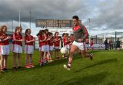 27 May 2017; Aidan Walsh of Cork makes his way onto the pitch for the warm-up before his first championship football match for Cork in three years before the Munster GAA Football Senior Championship Quarter-Final match between Waterford and Cork at Fraher Field in Dungarvan, Co Waterford. Photo by Matt Browne/Sportsfile