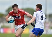 27 May 2017; Peter Kelleher of Cork in action against Michael Curry of Waterford during the Munster GAA Football Senior Championship Quarter-Final match between Waterford and Cork at Fraher Field in Dungarvan, Co Waterford. Photo by Matt Browne/Sportsfile