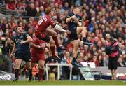 27 May 2017; Andrew Conway of Munster in action against Rhys Patchell of Scarlets during the Guinness PRO12 Final between Munster and Scarlets at the Aviva Stadium in Dublin. Photo by Diarmuid Greene/Sportsfile
