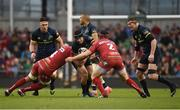 27 May 2017; Tyler Bleyendaal of Munster is tackled by Lewis Rawlins, left, and Ryan Elias of Scarlets during the Guinness PRO12 Final between Munster and Scarlets at the Aviva Stadium in Dublin. Photo by Diarmuid Greene/Sportsfile