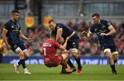 27 May 2017; Jean Deysel of Munster is tackled by James Davies of Scarlets during the Guinness PRO12 Final between Munster and Scarlets at the Aviva Stadium in Dublin. Photo by Diarmuid Greene/Sportsfile
