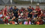 27 May 2017; Francis Saili of Munster reacts after dropping a pass from team-mate Jaco Taute during the Guinness PRO12 Final between Munster and Scarlets at the Aviva Stadium in Dublin. Photo by Diarmuid Greene/Sportsfile