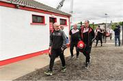 28 May 2017; Tyrone manager Mickey Harte arrives ahead of the Ulster GAA Football Senior Championship Quarter-Final match between Derry and Tyrone at Celtic Park in Derry. Photo by Ramsey Cardy/Sportsfile
