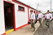 28 May 2017; Tyrone's Peter Harte arrives ahead of the Ulster GAA Football Senior Championship Quarter-Final match between Derry and Tyrone at Celtic Park in Derry. Photo by Ramsey Cardy/Sportsfile