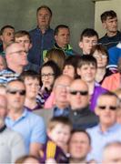 28 May 2017; Wexford manager Davy Fitzgerald, with County Board Chairman Derek Kent, behind, during the playing of the National Anthem before the Leinster GAA Hurling Senior Championship Quarter-Final match between Laois and Wexford at O'Moore Park, in Portlaoise, Co. Laois. Photo by Ray McManus/Sportsfile