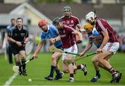 28 May 2017; Ryan O'Dwyer of Dublin in action against Aidan Harte of Galway during the Leinster GAA Hurling Senior Championship Quarter-Final match between Galway and Dublin at O'Connor Park, in Tullamore, Co. Offaly. Photo by Daire Brennan/Sportsfile