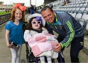28 May 2017; Wexford manager Davy Fitzgerald with Hollie Quail, 6, and her sister Maura, left, 8, from Portlaoise, after the Leinster GAA Hurling Senior Championship Quarter-Final match between Laois and Wexford at O'Moore Park, in Portlaoise, Co. Laois. Photo by Ray McManus/Sportsfile
