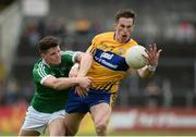 28 May 2017; Eoin Cleary of Clare in action against Iain Corbett of Limerick during the Munster GAA Football Senior Championship Quarter-Final between Clare and Limerick at Cusack Park in Ennis, Co. Clare. Photo by Diarmuid Greene/Sportsfile
