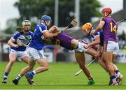 28 May 2017; Harry Kehoe of Wexford in action against Lee Cleere and Charles Dwyer of Laois during the Leinster GAA Hurling Senior Championship Quarter-Final match between Laois and Wexford at O'Moore Park, in Portlaoise, Co. Laois. Photo by Ray McManus/Sportsfile