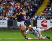 28 May 2017; Aidan Nolan of Wexford celebrates after scoring the second goal during the Leinster GAA Hurling Senior Championship Quarter-Final match between Laois and Wexford at O'Moore Park, in Portlaoise, Co. Laois. Photo by Ray McManus/Sportsfile