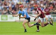 28 May 2017; Niall McMorrow of Dublin in action against Conor Whelan of Galway during the Leinster GAA Hurling Senior Championship Quarter-Final match between Galway and Dublin at O'Connor Park, in Tullamore, Co. Offaly.  Photo by Piaras Ó Mídheach/Sportsfile