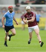 28 May 2017; Joe Canning of Galway shoots under pressure from Ryan O'Dwyer of Dublin during the Leinster GAA Hurling Senior Championship Quarter-Final match between Galway and Dublin at O'Connor Park, in Tullamore, Co. Offaly.  Photo by Piaras Ó Mídheach/Sportsfile