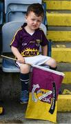 28 May 2017; Two year old Harry Cowman, from Wexford Town, at the Leinster GAA Hurling Senior Championship Quarter-Final match between Laois and Wexford at O'Moore Park, in Portlaoise, Co. Laois. Photo by Ray McManus/Sportsfile