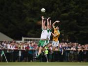 28 May 2017; Mark Gottsche, left, and Anthony McDermott of London in action against Damien Moran of Leitrim during the Connacht GAA Football Senior Championship Quarter-Final match between London and Leitrim at McGovern Park, in Ruislip, London, England.   Photo by Seb Daly/Sportsfile