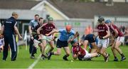 28 May 2017; Galway manager Micheál Donoghue watches Ryan O'Dwyer of Dublin in action against Aidan Harte of Galway during the Leinster GAA Hurling Senior Championship Quarter-Final match between Galway and Dublin at O'Connor Park, in Tullamore, Co. Offaly. Photo by Daire Brennan/Sportsfile