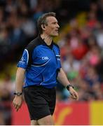 28 May 2017; Referee Maurice Deegan  during the Ulster GAA Football Senior Championship Quarter-Final match between Derry and Tyrone at Celtic Park, in Derry.  Photo by Oliver McVeigh/Sportsfile