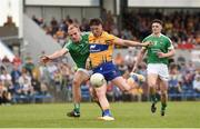 28 May 2017; Keelan Sexton of Clare in action against Sean O'Dea of Limerick during the Munster GAA Football Senior Championship Quarter-Final between Clare and Limerick at Cusack Park in Ennis, Co. Clare. Photo by Diarmuid Greene/Sportsfile