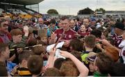28 May 2017; Joe Canning of Galway signs autographs for supporters after the Leinster GAA Hurling Senior Championship Quarter-Final match between Galway and Dublin at O'Connor Park, in Tullamore, Co. Offaly. Photo by Daire Brennan/Sportsfile