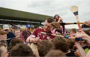 28 May 2017; Joe Canning of Galway signs autographs after the Leinster GAA Hurling Senior Championship Quarter-Final match between Galway and Dublin at O'Connor Park, in Tullamore, Co. Offaly.  Photo by Piaras Ó Mídheach/Sportsfile