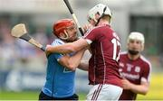 28 May 2017; Ryan O'Dwyer of Dublin in action against John Hanbury of Galway during the Leinster GAA Hurling Senior Championship Quarter-Final match between Galway and Dublin at O'Connor Park, in Tullamore, Co. Offaly.  Photo by Piaras Ó Mídheach/Sportsfile