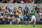 28 May 2017; Keelan Sexton of Clare celebrates after scoring a point during the Munster GAA Football Senior Championship Quarter-Final between Clare and Limerick at Cusack Park in Ennis, Co. Clare. Photo by Diarmuid Greene/Sportsfile