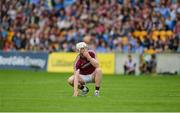 28 May 2017; Joe Canning of Galway reacts after he hit a shot wide during the Leinster GAA Hurling Senior Championship Quarter-Final match between Galway and Dublin at O'Connor Park, in Tullamore, Co. Offaly. Photo by Daire Brennan/Sportsfile