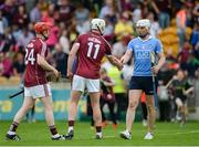 28 May 2017; Liam Rushe of Dublin shakes hands with Joe Canning of Galway after the Leinster GAA Hurling Senior Championship Quarter-Final match between Galway and Dublin at O'Connor Park, in Tullamore, Co. Offaly. Photo by Daire Brennan/Sportsfile
