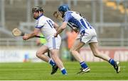 28 May 2017; George Bee O'Brien of St Patrick's in action against Neal Farrell of Ballyboden St Enda's during the Leinster Adult Club Hurling League Division 4 Final match between Ballyboden St Enda's and St Patrick's at O'Connor Park in Tullamore, Co Offaly. Photo by Piaras Ó Mídheach/Sportsfile