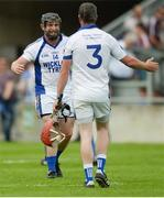 28 May 2017; Andy O'Brien of St Patrick's celebrates with team-mate John Connors, 3, after the Leinster Adult Club Hurling League Division 4 Final match between Ballyboden St Enda's and St Patrick's at O'Connor Park in Tullamore, Co Offaly. Photo by Piaras Ó Mídheach/Sportsfile