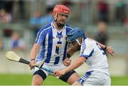28 May 2017; Christy Moorehouse of St Patrick's in action against Matt O'Sullivan of Ballyboden St Enda's during the Leinster Adult Club Hurling League Division 4 Final match between Ballyboden St Enda's and St Patrick's at O'Connor Park in Tullamore, Co Offaly. Photo by Piaras Ó Mídheach/Sportsfile