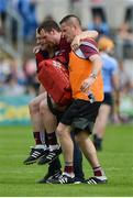 28 May 2017; Paul Killeen of Galway is carried off the field during the Leinster GAA Hurling Senior Championship Quarter-Final match between Galway and Dublin at O'Connor Park, in Tullamore, Co. Offaly. Photo by Daire Brennan/Sportsfile
